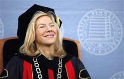 Amy Gutmann, president of the University of Pennsylvania, is the state's highest-paid chief administrator at a private school. In 2015, the most recent year compensation figures were available, Ms. Gutmann was paid $2,086,395, including $1,259,172 in base pay.  is seen during commencement in Philadelphia, Monday, May 18, 2009. (AP Photo/Matt Rourke)