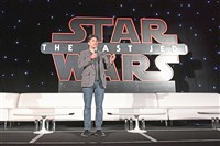 "Anthony Breznican at the press conference for ""Star Wars: The Last Jedi"" on Dec. 3 in Los Angeles."