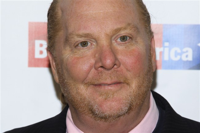 In this Wednesday, April 20, 2016, file photo, Mario Batali attends an awards dinner in New York. Batali is stepping down from daily operations at his restaurant empire following reports of sexual misconduct by the celebrity chef over a period of at least 20 years.