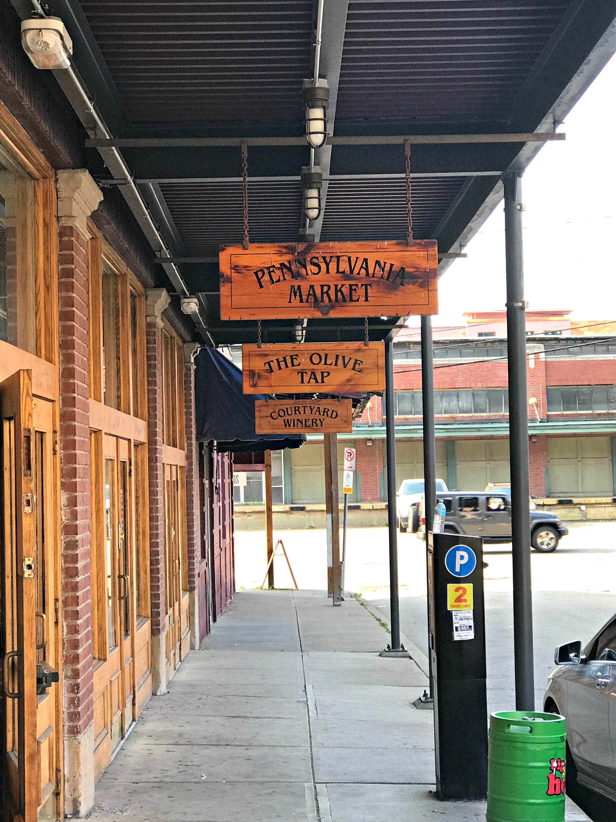 strip5.jpg Jonathan Moran Woodworks, East End Brewing, The Olive Tap and Courtyard Winery occupy 108 19th Street.