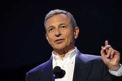 This file photo shows Bob Iger, chairman and chief executive officer of The Walt Disney Co., at the D23 Expo 2017 in Anaheim, California, on July 14, 2017.