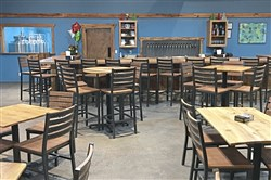 The interior of the new Missing Links Brewery in Connoquenessing, Butler County.