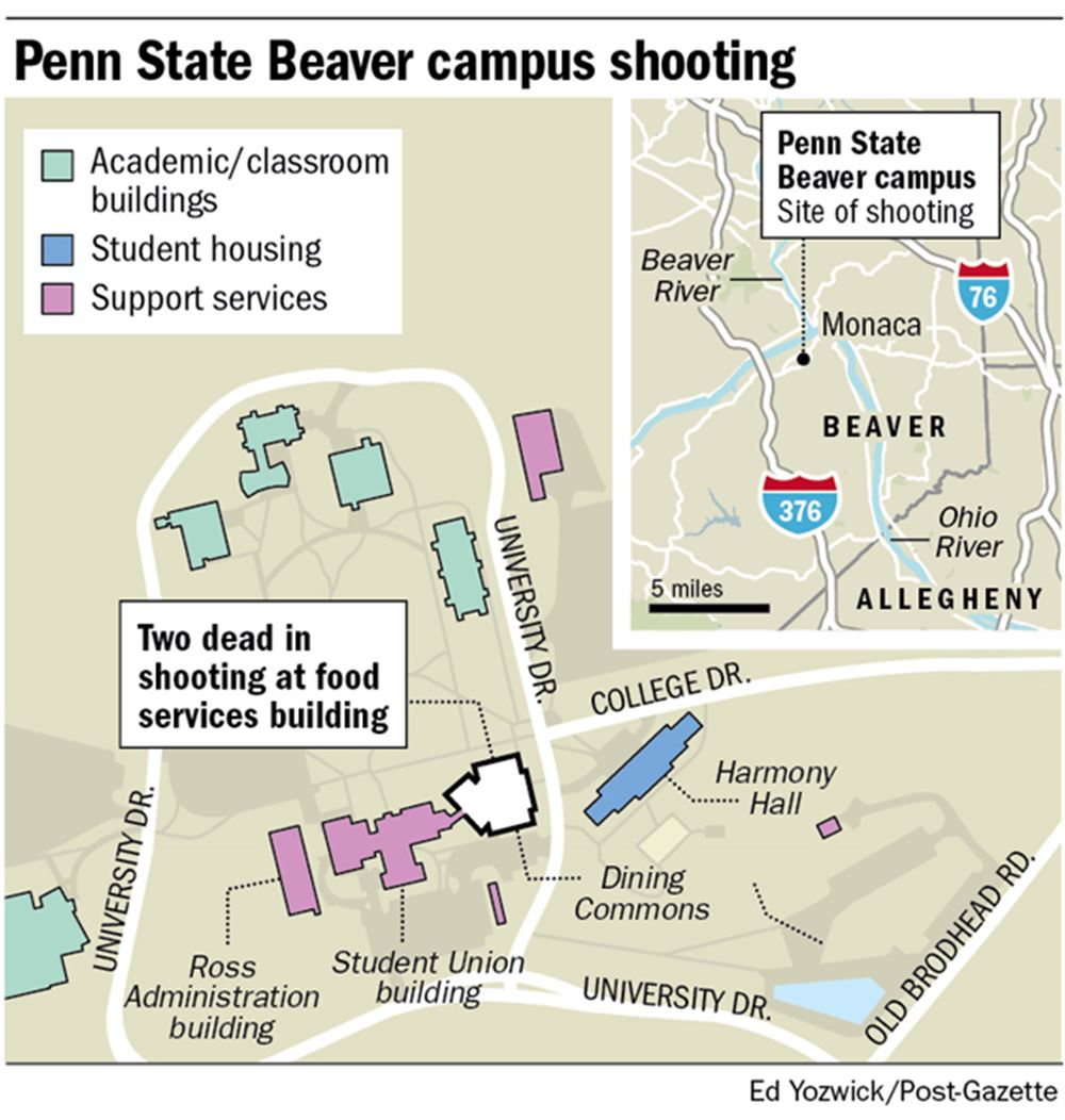 Two dead in apparent murder-suicide at Penn State Beaver; no ...