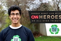 Pitt graduate Samir Lakhani is one of 10 CNN Heroes finalists. The winner will be announced Sunday.