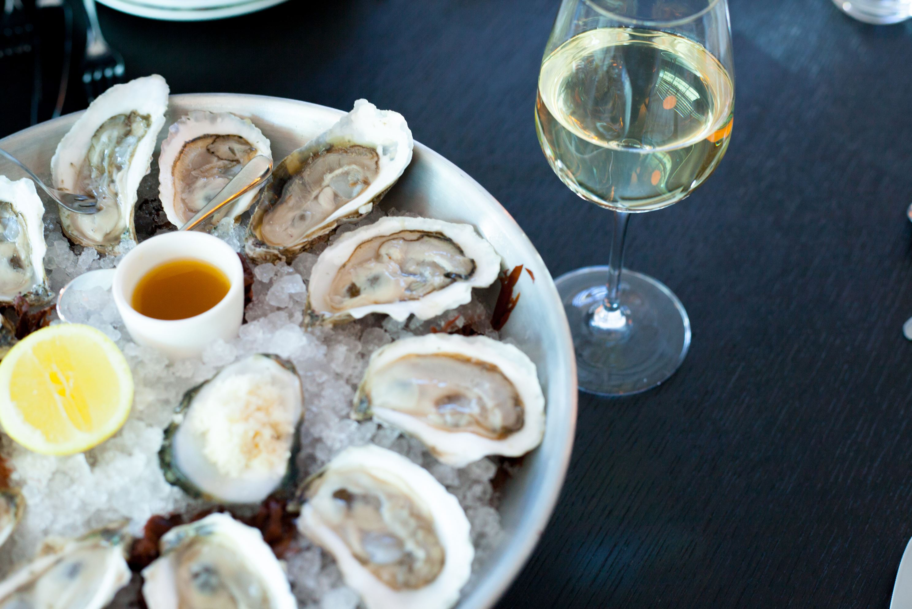 fl2_NYE_OYSTER Oysters from the raw bar will start off evening dining on New Year's Eve at Fl.2, the new restaurant concept at the Fairmont Pittsburgh hotel, Downtown.