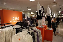 "Despite its recent struggles, Joe Fresh ""was a nice surprise to other retailers who said, 'Hey, if they can do this, we can, too,' "" says a partner at consultants A.T. Kearney. Shown, the Joe Fresh section of the J.C. Penny store at the Glendale Galleria shopping center in Glendale, California, on Aug. 16, 2013. (MUST CREDIT: Patrick T. Fallon/Bloomberg)"