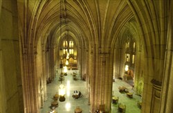 Interior of the Cathedral of Learning on the campus of the University of Pittsburgh.