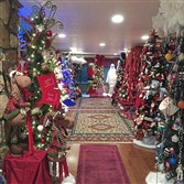 More than a dozen Christmas trees greet visitors in Paula Burba's foyer.