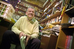 Donald Goldstein, a former professor of history at University of Pittsburgh, authored numerous of books, many about the Japanese attack on Pearl Harbor. He is pictured here in 2000 in his famously cluttered office.