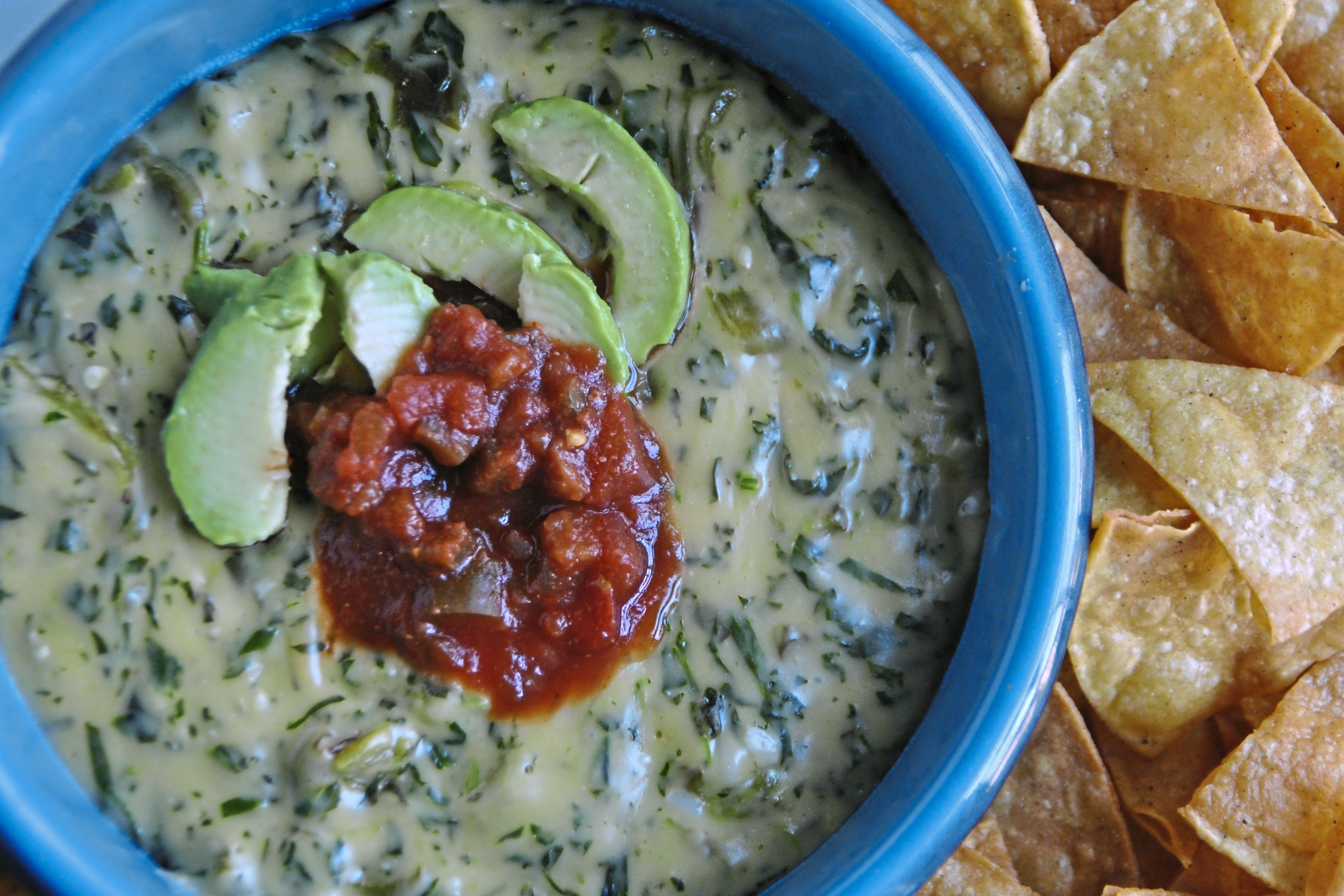 spinach queso 1-2 Stay home on New Year's Eve and enjoy Spinach Queso.
