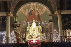 Murals lights tours of the murals by Maxo Vanka are being offered in St. Nicholas Croatian Catholic Church, Millvale, this week.