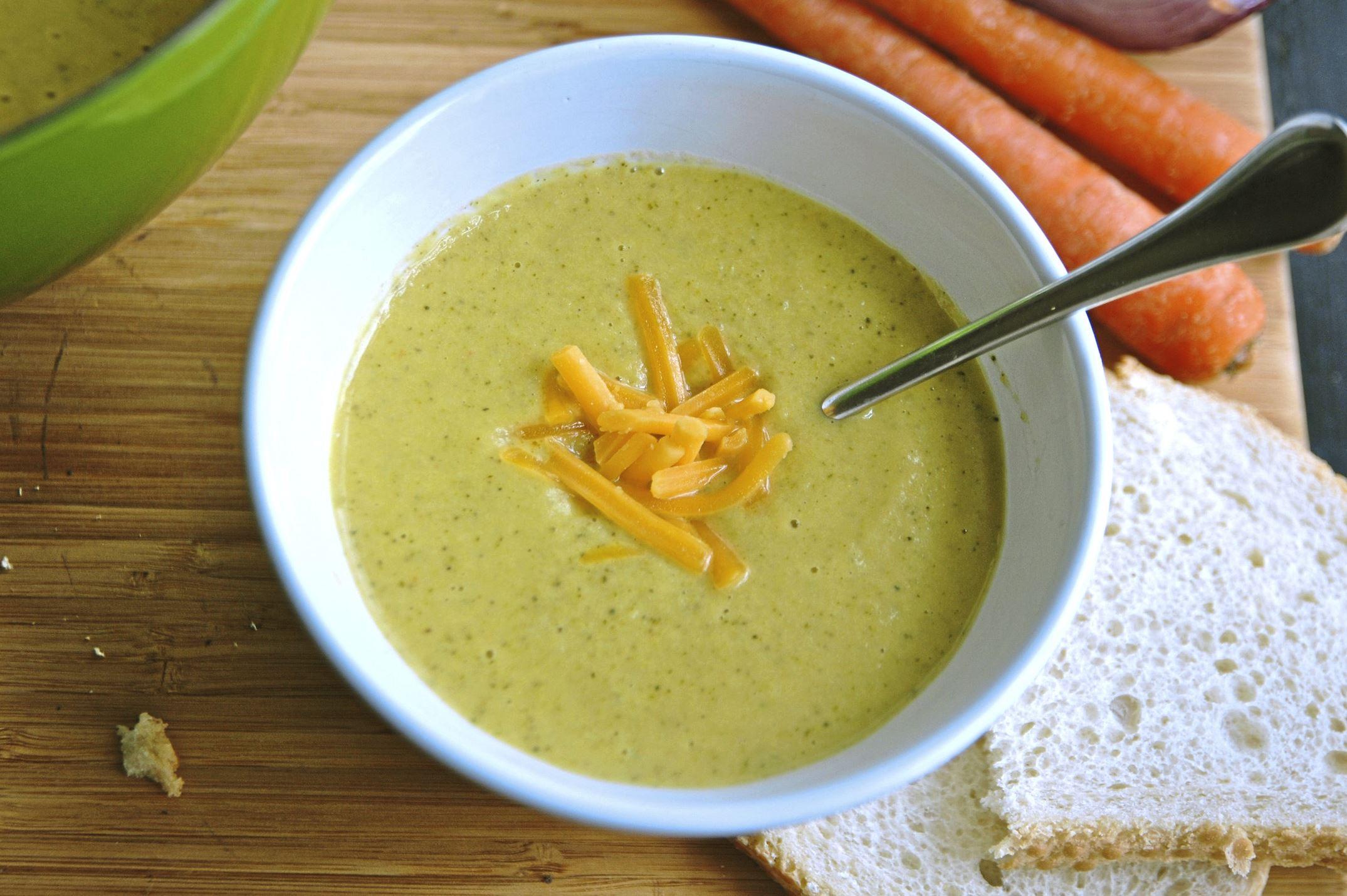 broccoli-cheese-soup-1 Broccoli Carrot Soup.