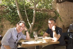 "Steve Coogan, left, and Rob Brydon in Michael Winterbottom's ""The Trip to Spain."""