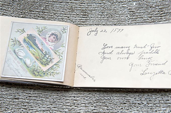 A child's autograph book from 1899 belongs to Barbara Luderowski and Michael Olijnyk.