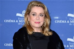 In this file photo, Catherine Deneuve is photographed at a photo call Nov. 11, 2017, in La Baule, France.