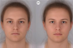 Each of these portraits is a composite of 16 men and women who were photographed once while they were healthy and once after they had been infected with a toxin. Can you tell which face is sick and which is healthy?