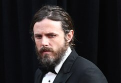This file photo taken February 26, 2017, shows then Best Actor nominee Casey Affleck arriving on the red carpet for the 89th Oscars in Hollywood, California.