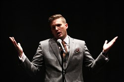 In this file photo, white nationalist Richard Spencer holds a news conference before giving a speech at the University of Florida in Gainesville, Fla., on Oct. 19, 2017.