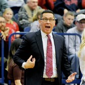 Duquesne women's coach Dan Burt was not happy with the loss in the A-10 tournament.
