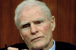In this Dec. 14, 2007, file photo, former New Jersey Gov. Brendan Byrne speaks during a panel discussion about education funding in Princeton, N.J. Byrne, a Democrat who served as New Jersey governor from 1974 to 1982, died Thursday, Jan. 4, 2018, at age 93.
