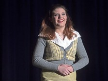 Baldwin High School junior Mikayla Davic introduces her fourth musical, The Misfits, on 5 at Baldwin High School. Mikayla has been producing, writing and starring in musicals for the last several years, with a goal of raising $50,000 for the Make-A-Wish Foundation.
