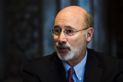 In this Jan. 2, 2018 photo, Gov. Tom Wolf speaks during an interview with The Associated Press at his office in Harrisburg, Pa.