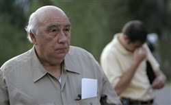 "In this Aug. 20, 2007, file photo, Robert ""Bob"" Murray, founder and chairman of Cleveland-based Murray Energy Corp., arrives at a news conference at the entrance to the Crandall Canyon Mine, in northwest of Huntington, Utah."