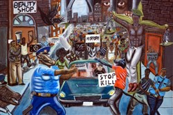 "The painting ""Untitled #1,"" an allegorical depiction of clashes at a civil rights demonstration by David Pulphus of St. Louis, was one of more than 400 works by high school students selected to hang in the U.S. Capitol for the 2016 Congressional Art Competition. Its removal has prompted a fight over arts censorship."