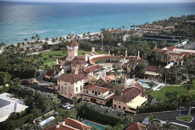 The Atlantic Ocean is seen adjacent to President Donald Trump's beach front the Mar-a-Lago resort, also sometimes called his Winter White House, the day after Florida received an exemption from the Trump administration's newly announced ocean drilling plan January 11, 2018, in Palm Beach, Florida.