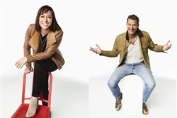 "Paige Davis and Ty Pennington return in ""Trading Spaces."""