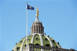 The Pennsylvania statehouse in Harrisburg
