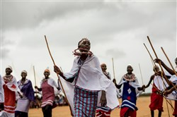Maasai girls sing and dance at a rite-of-passage ceremony, an alternative to the genital cutting ceremony that for many Maasai marks the passage into womanhood, in Lenkisem, Kenya, on Dec. 8, 2017.