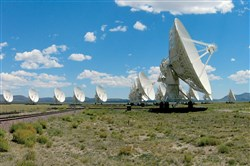 The Very Large Array radio telescope, which was used to track and study the location of FRB 121102, a series of mysterious light flashes. Scientists now think the bursts originated from a neutron star in an extreme environment.