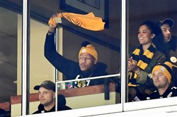 Ryan Shazier waves the Terrible Towel Jan. 14.