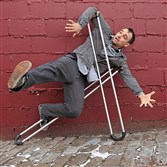 "Bill Shannon is a Pittsburgh-based artist with experience in drawing, dancing, metalworking, performance art, writing, public speaking, and sculpture. His ""Stay Up"" dance project explores the personal movement patterns of individuals with disabilities.  photo credit: handout"
