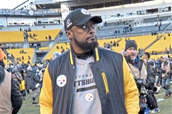Steelers head coach Mike Tomlin walks off the field after losing to the Jaguars at Heinz Field Sunday, Jan. 14, 2018, in Pittsburgh. (Matt Freed/Post-Gazette)
