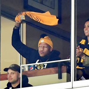 Ryan Shazier waves the Terrible Towel during the Steelers' playoff game Jan. 14 against the Jaguars.