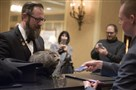 Punxsutawney Phil checks into the Omni William Penn Hotel Downtown before heading to a meet-and-greet at Threadbare Cider and Mead on Friday, January 19, 2018.