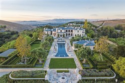 Aerial view of the 33-acre Tull compound in suburban Los Angeles. It's on the market for $85 million.