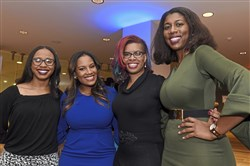 From left: Keyva Clark, Sabrina Saunders Mosby, Desiree S. Lee and Marita Garrett attend the Coro 2018 Martin Luther King, Jr. Leadership Awards at the DoubleTree by Hilton Pittsburgh hotel on Saturday night.