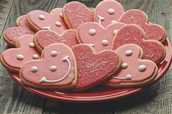 Sweetheart Smiley Cookies are being sold at Eat 'n Park Restaurants through Feb. 14.