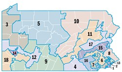 Let's do the twist: Pa's congressional districts today