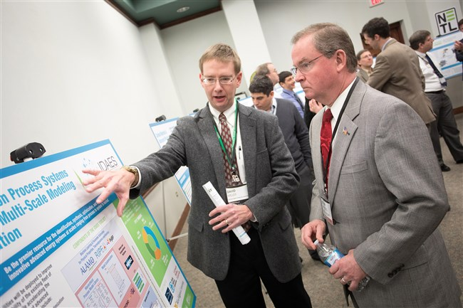 Steven Winberg, U.S. assistant secretary for fossil fuels, listens to presentations on research at the National Energy Technology Laboratory at South Park, in a visit earlier this year.