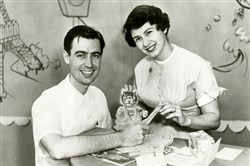 "Fred Rogers and Butler native Josie Carey co-hosted ""The Children's Corner"" from 1953 to 1961 on WQED. Daniel Striped Tiger, center, would later appear on ""Mister Rogers' Neighborhood."""