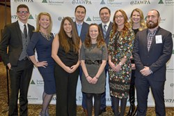Young Professionals: (Back row from left) Adam Cagle, Christy Uffelman, Andrew Wallisch, Rich Ernsberger, Pam Arroyo. (Front row from left) Danielle Katz, Jana Volante,, Katharine Perry and Gabe Goldman.
