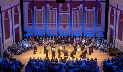 Members of the Pittsburgh Symphony Orchestra play during a special PSO360 performance on Saturday, Jan. 27, 2018, at Heinz Hall.