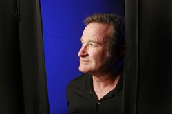 This file photo shows Robin Williams before his performance at the Ted Constant Convocation Center in Norfolk on Oct. 28, 2009.