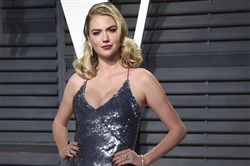 In this file photo, Kate Upton arrives at the Vanity Fair Oscar Party on Feb. 26, 2017, in Beverly Hills, Calif.