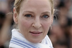 In this May 18, 2017, file photo, actress Uma Thurman poses for photographers during the photo call for the Un Certain Regard jury at the 70th international film festival, Cannes, southern France.