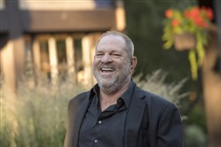 This file photo shows Harvey Weinstein, co-chairman and founder of Weinstein Co., in Sun Valley, Idaho, in July 2017.